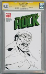 Incredible Hulk #1 Blank CGC 9.8 Signature Series Signed Marat Mychaels Sketch Marvel comic book
